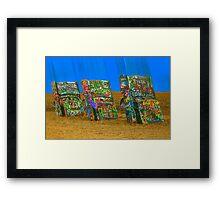 Cadillac Ranch - Amarillo Framed Print