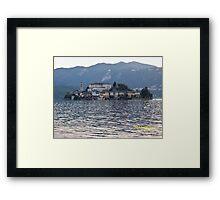 IL LAGO D'ORTA - ISOLA DI SAN  GIULIO - ITALY- EUROPA- 4500 visualizz.settembre 2013 -featured in italy 500+ & RB EXPLORE 14 NOVEMBRE 2011 --- Framed Print