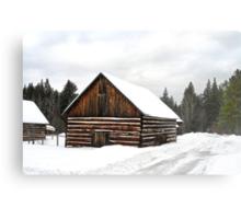Pioneer Barn - Winter Metal Print
