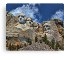 Mount Rushmore National Memorial In High Definition Canvas Print