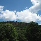 Blue Skies Over East Rock by P.M. Franzen