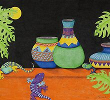 Moon Over My Geckos Too by Judy Newcomb
