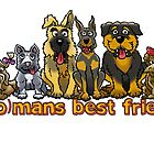 (WO)MANS BEST FRIEND by NHR CARTOONS .
