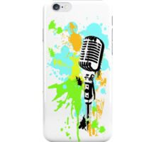 Old Skool Microphone iPhone Case/Skin