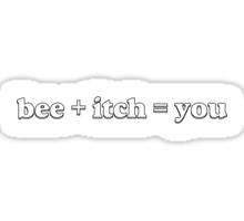 Bee + Itch Sticker