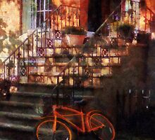 Orange Bicycle by Brownstone by Susan Savad