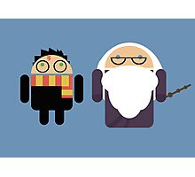 Harry Pottroid and Dumbledroid print Photographic Print