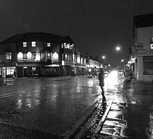 Wet Evening, Salisbury Road Cardiff (1) by Artberry