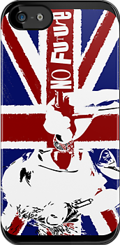 No Future - Sex Pistols - Johnny Rotten (Union Jack Design) by Mark Wilson