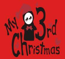 My 3rd Christmas txt penguin vector art Kids Clothes
