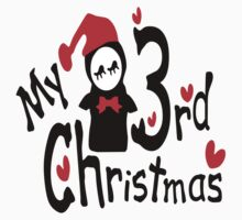 My 3rd Christmas txt penguin vector art by cheeckymonkey