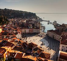 Piran from above by Béla Török