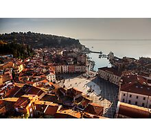 Piran from above Photographic Print