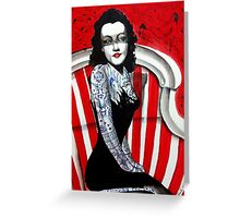 The Black Dahlia Greeting Card
