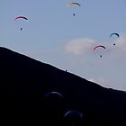 Mam Tor Paragliding by Darren Burroughs