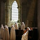 The Sitting Nun - Abbaye du Vézelay by Norman Dodds