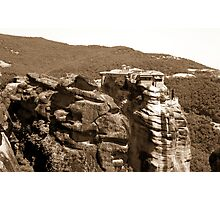 Beautiful mountain landscape from Meteora in Greece Photographic Print