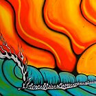 8'X14' WALL MURAL PLAYA FUEGO by Levi Moodie