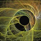 The birth of green-eye by Fractal artist Sipo Liimatainen