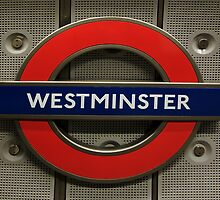 Westminster Tube Stop by Louise Fahy