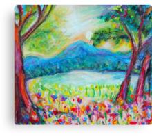 Evening on Long Pond Canvas Print