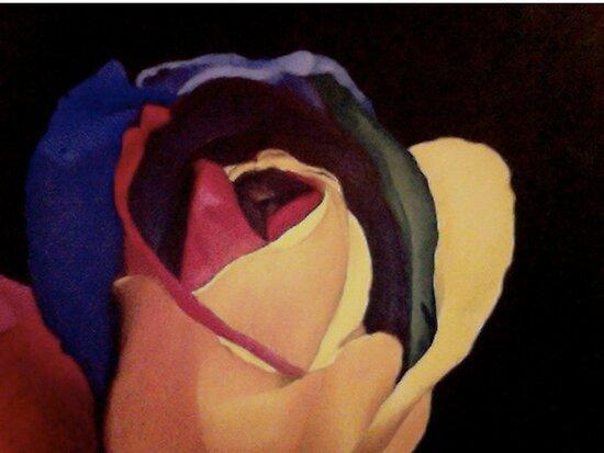 Rainbow Rose by ReadingBeauty