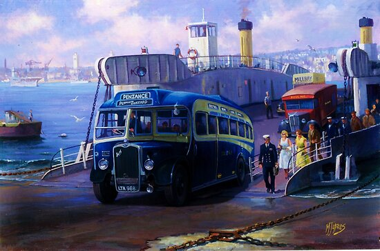 Royal Blue Bristol at Torpoint ferry. by Mike Jeffries