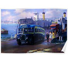 Royal Blue Bristol at Torpoint ferry. Poster