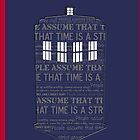 Tardis Timey Wimey - (iPhone) by Adam Angold