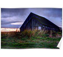 Lonley Old Barn Poster