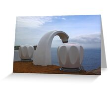 Sculptures by the Sea - Giant Tap Greeting Card