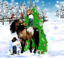 A Horse and Kid Christmas by Lotacats
