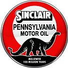 Sinclair Motor Oil vintage sign reproduction. Crystal version by htrdesigns