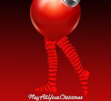 MAY ALL YOUR CHRISTMAS BALLS BE BRIGHT by peter chebatte