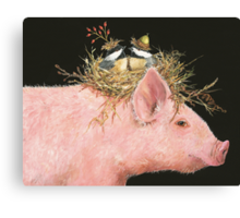 Livin' High on the Hog (with Livingston, Chuck and Dee) Canvas Print