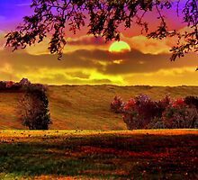 Pastures of a Fall Sky by Donnie Voelker