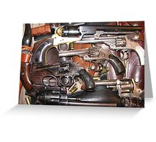 Antique Guns Collection photography Greeting Card
