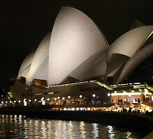 Sydney Opera House at Night by Laurel Talabere