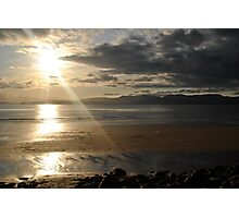 Sunset on Rossbeigh Beach Photographic Print