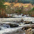 Dochart Falls Panorama by Tom Gomez