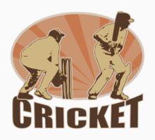 cricket player batsman batting retro by patrimonio