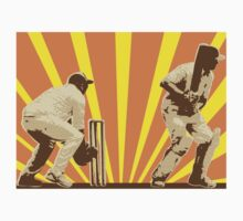 cricket player batsman batting retro by patrimonio