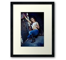 Tina in Blue Jeans-3 Framed Print