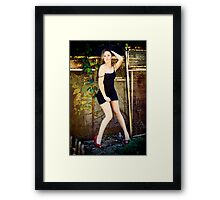 Tina-Little Black Dress-2 Framed Print