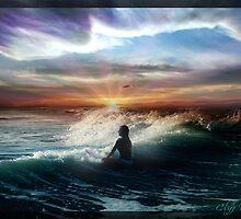 Sunrise Surf by Cliff Vestergaard
