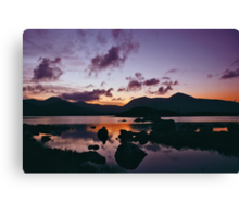 Twilight over Rannoch Moor and the Black Mount, Scotland Canvas Print