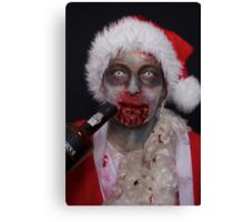 zombie santa 1 Canvas Print
