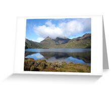 Cradle Mountain reflections. Tasmania Australia Greeting Card