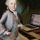 young Mozart at the Organ by Soxy Fleming