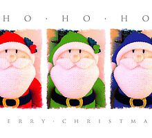 Ho, Ho, Ho! Colourful Santa by Alisdair Binning